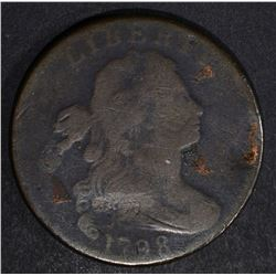 1798 DRAPED BUST LARGE CENT, VG mark on reverse