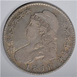 1818/17 CAPPED BUST HALF DOLLAR, VF/XF