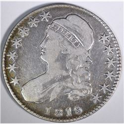1819 CAPPED BUST HALF DOLLAR, VF