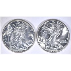 1943 & 44 CH BU WALKING LIBERTY HALF DOLLARS