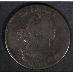 1800 DRAPED BUST LARGE CENT  VF