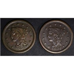 1854 VF/XF & 1854 XF LARGE CENTS