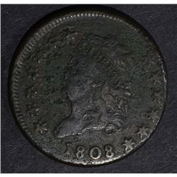 1808 CLASSIC HEAD LARGE CENT, VF corroded