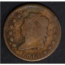 1814 CLASSIC HEAD LARGE CENT, VG cleaned