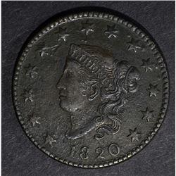 1820 LARGE CENT, AU a little grainy