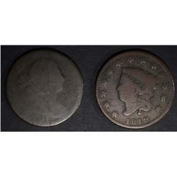 1801 AG & 1819 VG LARGE CENTS