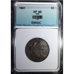 1801 LARGE CENT, EMGC XF NICE