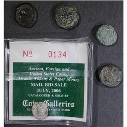 ANCIENT LOT: 5 COINS, L@@K - GREEK