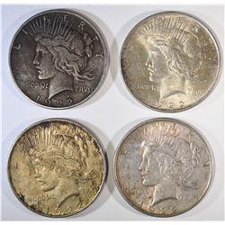 4-1922 PEACE DOLLARS