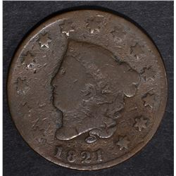 1821 LARGE CENT, GOOD+ KEY DATE
