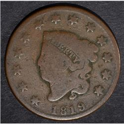 1819 LARGE CENT, VG