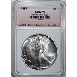1987 AMERICAN SILVER EAGLE WHSG PERFECT