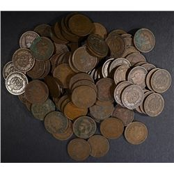 100 MIXED DATE CIRC INDIAN CENTS ALL IN THE 1900'S