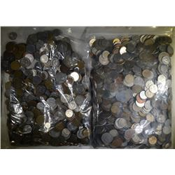 25 POUNDS OF FOREIGN COINS GOOD MIX
