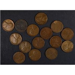 15 1926-S LINCOLN CENTS, GOOD-FINE