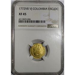 1772NR VJ COLOMBIA GOLD ESCUDO