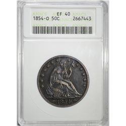 1854-O SEATED LIBERTY HALF DOLLAR