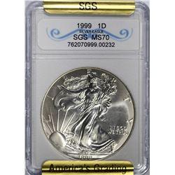 1999 AMERICAN SILVER EAGLE DOLLAR