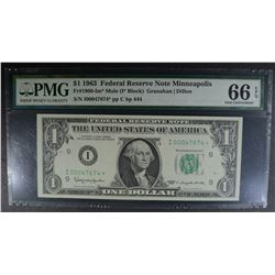 1963 $1 MULE FEDERAL RESERVE NOTE MINNEAPOLIS