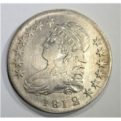 1812/11 CAPPED BUST HALF DOLLAR, XF cleaned