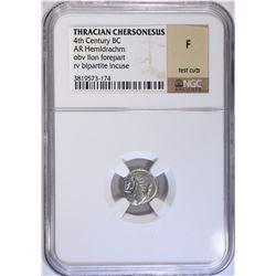 THRACIAN CHERSONESUS 4th CENTURY BC AR HEMIDRACHM