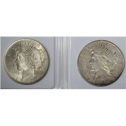 1922 BU & 1923-S VG PEACE DOLLARS