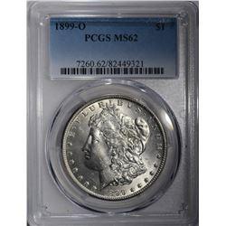 1899-O MORGAN DOLLAR  PCGS MS62