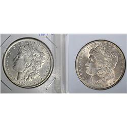 2 MORGAN DOLLARS: 1884-O AU & 1900 AU+