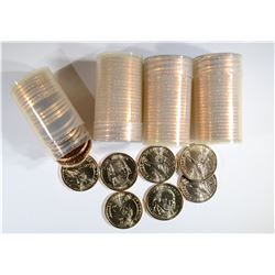 BU ROLLS 2-2007-P & 2-07-D MADISON DOLLARS