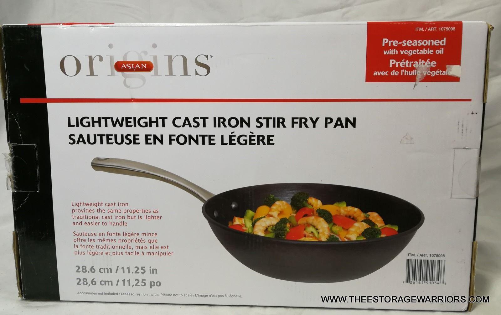 Origins Lightweight Cast Iron Stir Fry Pan