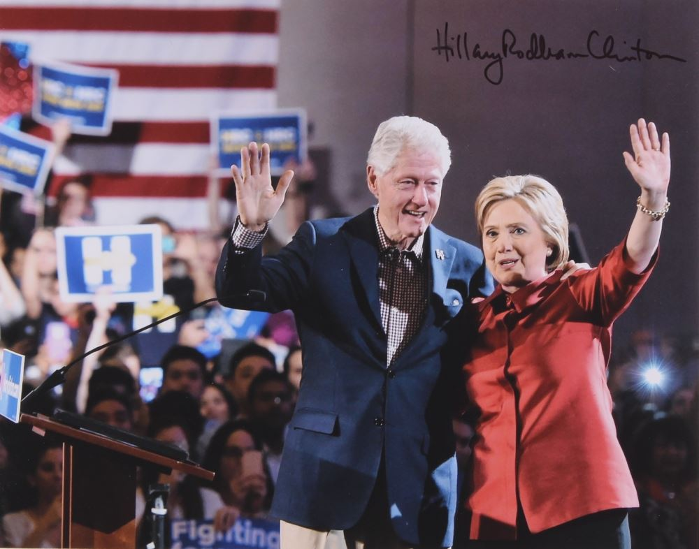 Hillary Clinton Signed 11x14 Photo with Full Name Signature