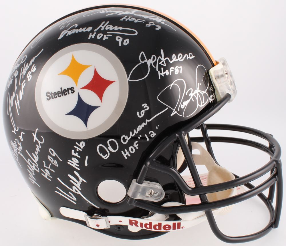 ebfba3ce7 Image 1   Steelers Hall of Fame Full-Size Authentic On-Field Helmet Signed