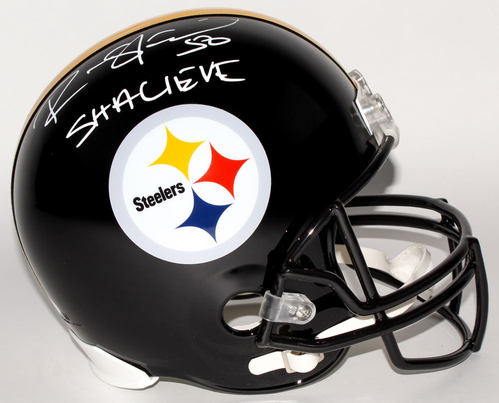 f32f98ff8 Image 1   Ryan Shazier Signed Steelers Full-Size Helmet Inscribed