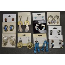 ELEVEN PAIR OF NAVAJO EARRINGS