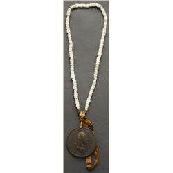 TRADE BEAD NECKLACE AND PEACE MEDAL