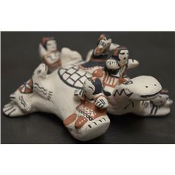 COCHITI POTTERY TURTLE (SNOWFLAKE FLOWER)