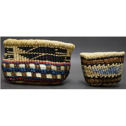 TWO NOOTKA MAKAH BASKETS