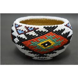 WASHOE BEADED BASKET