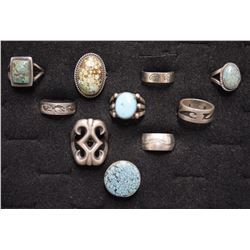 TEN NAVAJO RINGS