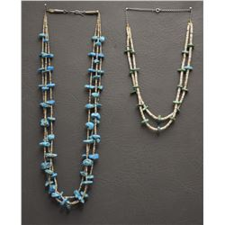 TWO SANTO DOMINGO NECKLACES
