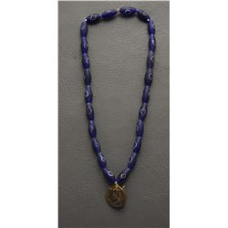 TRADE BEAD NECKLACE AND PENDENT