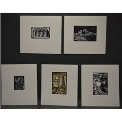 FIVE LINOCUTS (CHUKA)