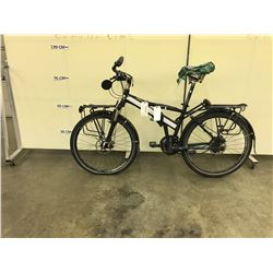 BLACK NO NAME FRONT SUSPENSION 21 SPEED FOLDING BIKE WITH FRONT AND REAR DISK BRAKES