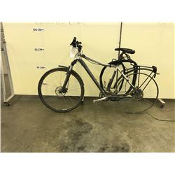 GREY SPECIALIZED ARIEL ELITE 24 SPEED FRONT SUSPENSION HYBRID MOUNTAIN BIKE WITH FRONT AND REAR