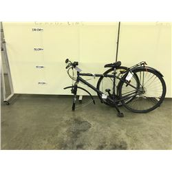 BLACK SUPERCYCLE 18 SPEED FRONT SUSPENSION HYBRID BIKE, CONDITION UNKNOWN