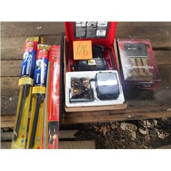 BUNDLE LOT: Compressor / Wipers, Fuzz Buster, Asstd. Tools