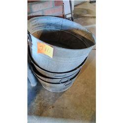 Galvanized Tubs (4)