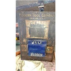Vintage Modern Tool Co. Calendar, Erie, Pa