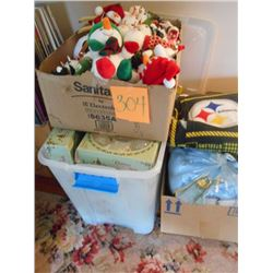 Christmas Decorations / Blankets Lot