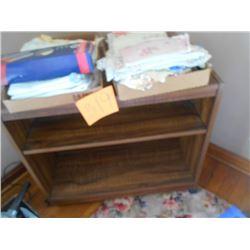 Asstd. Linens and Wooden Stand